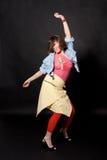 Ευτυχείς χορεύοντας γυναίκες Στοκ Φωτογραφίες
