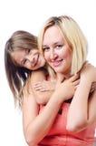 Ευτυχείς mom και κόρη Στοκ εικόνα με δικαίωμα ελεύθερης χρήσης