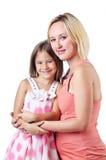 Ευτυχείς mom και κόρη Στοκ φωτογραφία με δικαίωμα ελεύθερης χρήσης