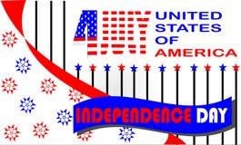 ΕΥΤΥΧΗΣ ΗΜΈΡΑ ΤΗΣ ΑΝΕΞΑΡΤΗΣΊΑΣ ΓΙΑ ΤΙΣ ΗΠΑ διανυσματική απεικόνιση