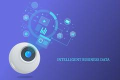 Ευφυή επιχειρησιακά στοιχεία, ρομπότ που αναλύουν τις πληροφορίες, μελλοντική επιστήμη στοιχείων, τεχνητή νοημοσύνη στοκ φωτογραφία