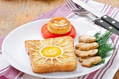 Ευχάριστα σάντουιτς αυγών στοκ εικόνες με δικαίωμα ελεύθερης χρήσης