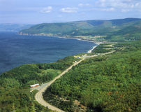 Ευχάριστη άποψη κόλπων στο ακρωτήριο βρετονική Νέα Σκοτία, Καναδάς Στοκ εικόνες με δικαίωμα ελεύθερης χρήσης