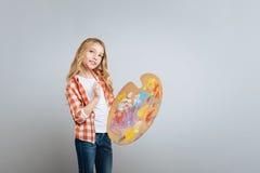 Ευχάριστος λίγη παλέτα χρώματος εκμετάλλευσης gilr Στοκ φωτογραφία με δικαίωμα ελεύθερης χρήσης