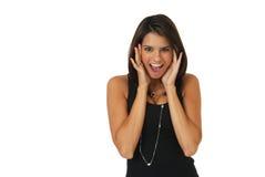 ευχαριστημένη γυναίκα στοκ εικόνα με δικαίωμα ελεύθερης χρήσης