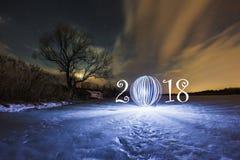 ευχετήρια κάρτα έτους του 2018 νέα Στοκ Εικόνες