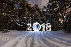 ευχετήρια κάρτα έτους του 2018 νέα Στοκ φωτογραφία με δικαίωμα ελεύθερης χρήσης