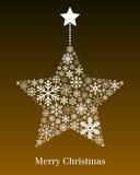 Ευχετήρια κάρτα αστεριών Χριστουγέννων διανυσματική απεικόνιση