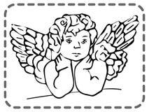 Ευχετήρια κάρτα βαλεντίνων του ST, άγγελος κατάπληξης, διάνυσμα ελεύθερη απεικόνιση δικαιώματος