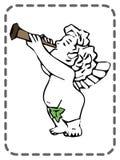Ευχετήρια κάρτα βαλεντίνων του ST, άγγελος με fife, διάνυσμα ελεύθερη απεικόνιση δικαιώματος