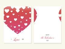 Ευχετήρια κάρτα βαλεντίνων του ST, μεγάλη καρδιά, διάνυσμα διανυσματική απεικόνιση