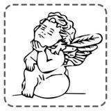 Ευχετήρια κάρτα βαλεντίνων του ST, να ονειρευτεί άγγελος, διάνυσμα διανυσματική απεικόνιση
