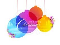 Ευχετήρια κάρτα για για τη Χαρούμενα Χριστούγεννα Στοκ Φωτογραφίες