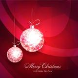 Ευχετήρια κάρτα για τα Χριστούγεννα και το νέο εορτασμό έτους Στοκ φωτογραφίες με δικαίωμα ελεύθερης χρήσης