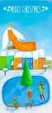 Ευχετήρια κάρτα για τα Χριστούγεννα Στοκ Εικόνες