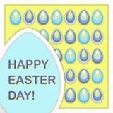Ευχετήρια κάρτα για την ευτυχή ημέρα Πάσχας διάνυσμα Στοκ εικόνα με δικαίωμα ελεύθερης χρήσης