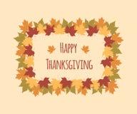 Ευχετήρια κάρτα για την ημέρα των ευχαριστιών με ζωηρόχρωμο ελεύθερη απεικόνιση δικαιώματος