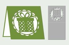 Ευχετήρια κάρτα για την κοπή με το λέιζερ, σχεδιαστής Σχέδιο σκιαγραφιών Στοκ Εικόνες