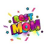 Ευχετήρια κάρτα για τη μητέρα μαμών mom ελεύθερη απεικόνιση δικαιώματος