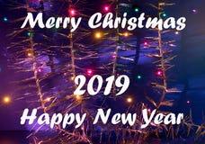Ευχετήρια κάρτα για τη Χαρούμενα Χριστούγεννα και καλή χρονιά στοκ φωτογραφία