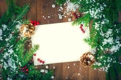 Ευχετήρια κάρτα για τις νέες διακοπές έτους Στοκ Εικόνες
