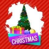 Ευχετήρια κάρτα για τον εορτασμό Χαρούμενα Χριστούγεννας Στοκ φωτογραφίες με δικαίωμα ελεύθερης χρήσης