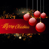 Ευχετήρια κάρτα για τον εορτασμό Χαρούμενα Χριστούγεννας Στοκ φωτογραφία με δικαίωμα ελεύθερης χρήσης
