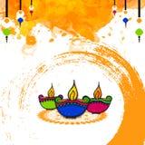Ευχετήρια κάρτα για τον ευτυχή εορτασμό Diwali Στοκ φωτογραφίες με δικαίωμα ελεύθερης χρήσης
