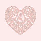 Ευχετήρια κάρτα για όλες τις μητέρες Στοκ εικόνα με δικαίωμα ελεύθερης χρήσης