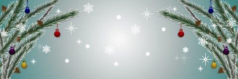 Ευχετήρια κάρτα διακοπών με το χριστουγεννιάτικο δέντρο ελεύθερη απεικόνιση δικαιώματος
