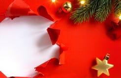 Ευχετήρια κάρτα διακοπών σχεδίου ή έμβλημα εποχής χειμερινής πώλησης  Chri στοκ φωτογραφία με δικαίωμα ελεύθερης χρήσης