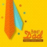 Ευχετήρια κάρτα εορτασμού ημέρας του ευτυχούς πατέρα με τις γραβάτες Στοκ Εικόνες