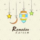 Ευχετήρια κάρτα εορτασμού του Kareem Ramadan Στοκ Εικόνες