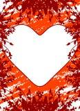 Ευχετήρια κάρτα ημέρας βαλεντίνου με τα λουλούδια και καρδιά στο grunge β στοκ εικόνα με δικαίωμα ελεύθερης χρήσης
