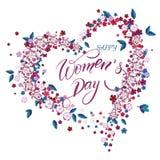 Ευχετήρια κάρτα ημέρας γυναικών ` s Ελεύθερη απεικόνιση δικαιώματος