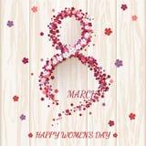 Ευχετήρια κάρτα ημέρας γυναικών ` s Στοκ Εικόνες