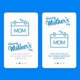 Ευχετήρια κάρτα ημέρας μητέρας με το υπόβαθρο λουλουδιών Στοκ εικόνα με δικαίωμα ελεύθερης χρήσης