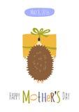 ευχετήρια κάρτα ημέρας μητέρων Στοκ Εικόνες