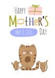 ευχετήρια κάρτα ημέρας μητέρων Στοκ εικόνα με δικαίωμα ελεύθερης χρήσης