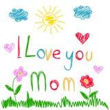 ευχετήρια κάρτα ημέρας μητέρων διανυσματική απεικόνιση