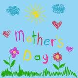 ευχετήρια κάρτα ημέρας μητέρων ελεύθερη απεικόνιση δικαιώματος