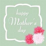 Ευχετήρια κάρτα ημέρας μητέρων ` s επίσης corel σύρετε το διάνυσμα απεικόνισης Στοκ Εικόνα