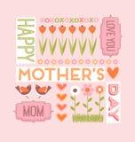 Ευχετήρια κάρτα ημέρας μητέρων ` s Στοκ φωτογραφία με δικαίωμα ελεύθερης χρήσης