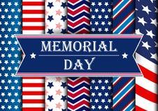 Ευχετήρια κάρτα ημέρας μνήμης διανυσματική απεικόνιση
