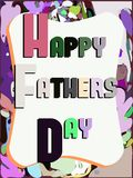 Ευχετήρια κάρτα ημέρας πατέρων Στοκ Εικόνα