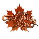 Ευχετήρια κάρτα ημέρας των ευχαριστιών με τον ευτυχή εγγραφής μετα Ιστό eps ιπτάμενων απεικόνισης κειμένων διανυσματικό jpg Στοκ Εικόνες