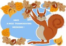 Ευχετήρια κάρτα ημέρας των ευχαριστιών Στοκ Εικόνες