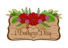 Ευχετήρια κάρτα διακοπών ημέρας μητέρων Στοκ εικόνα με δικαίωμα ελεύθερης χρήσης