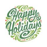 Ευχετήρια κάρτα διακοπών με την αφηρημένη σφαίρα Χριστουγέννων doodle Στοκ Εικόνες