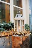 Ευχετήρια κάρτα διακοσμήσεων Χριστουγέννων Στοκ Εικόνες